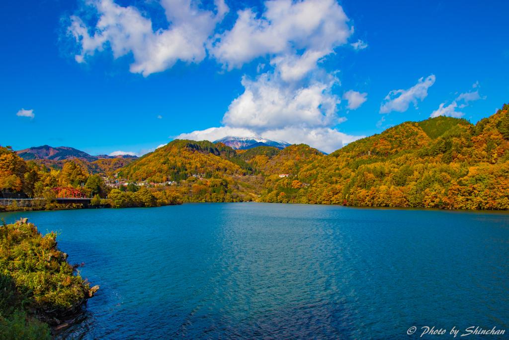 御岳湖からの〜