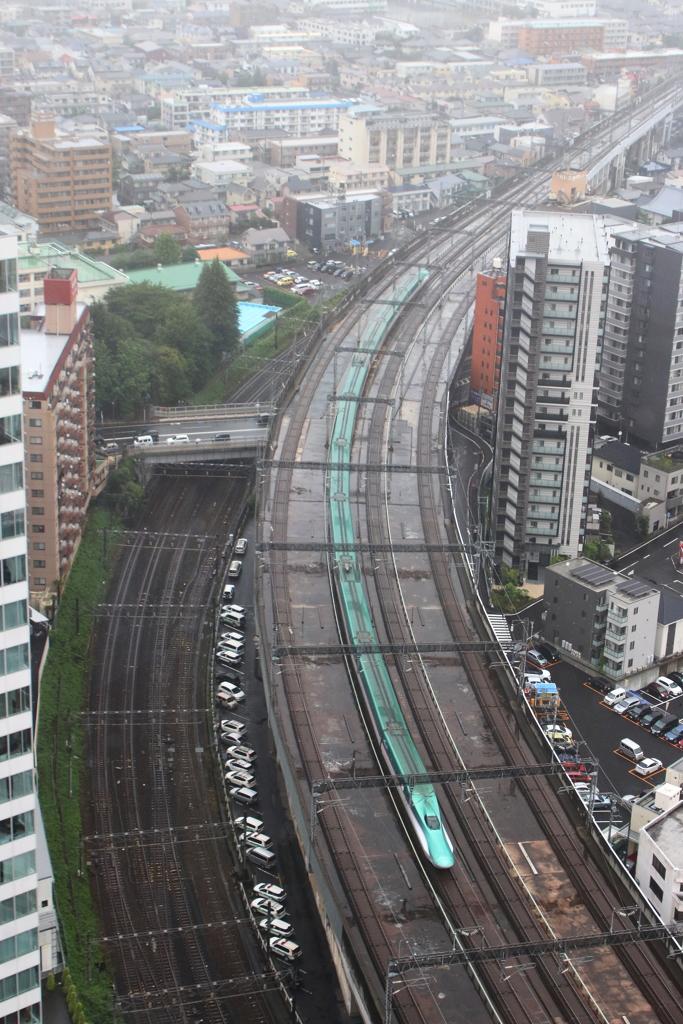 仙台市街夕刻小雨・2