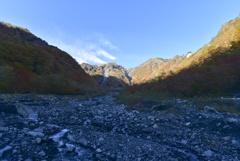 大谷崩の紅葉