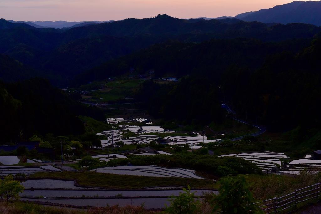 棚田の夕焼け