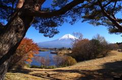 覗き見の富士山