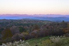 茶臼山高原より南アルプスを望む