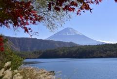 西湖と富士