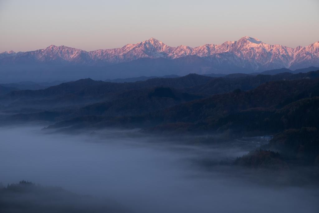 雲海、そして朝焼け。