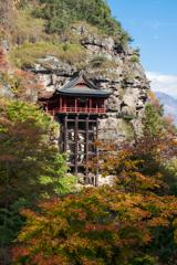 断崖絶壁のお寺