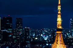 東京タワー反射