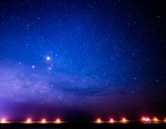 来間大橋と銀河
