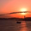 夕焼け 関門海峡 2