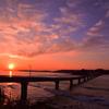 夕焼け 角島大橋 2