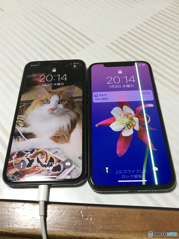 携帯が二台に