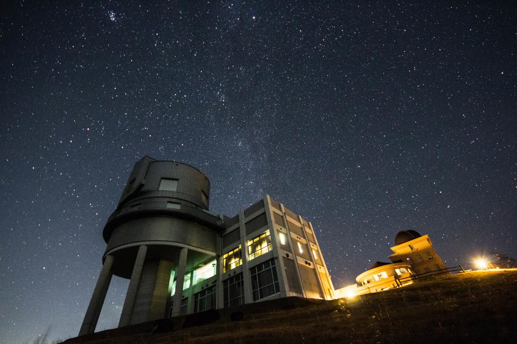 天文台と星空③