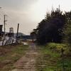 第二千六百三十六作 「とぼとぼ鉄路 はずされてゐる その奥の廃坑」 福岡県大牟田