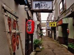 第二千百八十五作 「路地裏ひつそり ほつけ干されてゐる」 北海道釧路