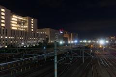 停車場の夜