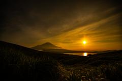 日没の山中湖
