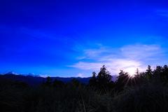 秩父路の夕景