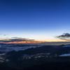 富士山から見た夜明け