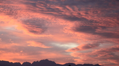 立山連峰と朝焼け