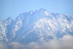 晴天で見れた本日の雪の立山 剱岳