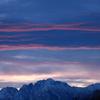 変化に富む朝の空と立山連峰