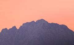今朝の剱岳