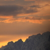 朝の立山連峰 剱岳