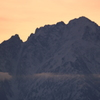 一日の始まりの立山連峰剱岳