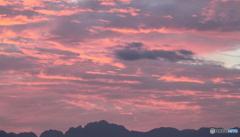 今朝の立山連峰周辺の空