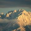 日暮れ時の立山連峰 剱岳