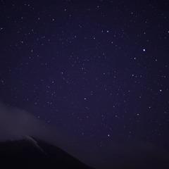岩手山と星