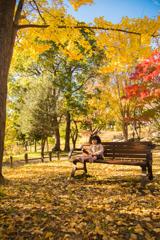 秋深日向ぼっこ