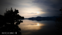 湖の夕景 <2>