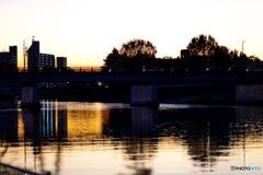 神崎川の夕方①