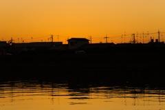 神崎川の夕方③