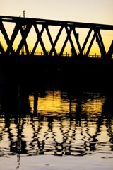 神崎川の夕方②