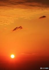 初夏の夕焼け