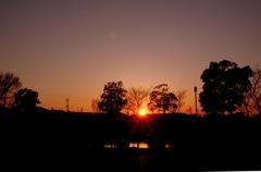 続柿田公園の夕暮れ