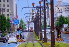 市電のある風景 @豊橋