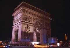 夜の凱旋門 @パリ