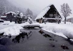 大雪の白川郷