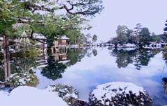 雪景色 @兼六園