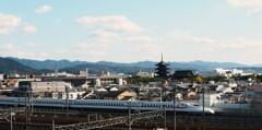 京都鉄道博物館から東寺方面