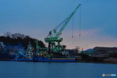 a small shipyard