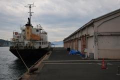 warehouse and ship