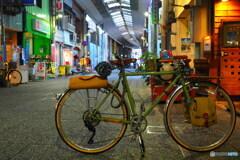 旅人の自転車