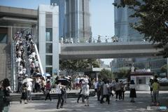 In Shanghai 上海の日常 いつも人が多い場所