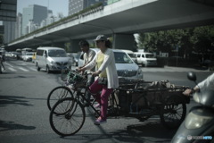 In Shanghai 通勤の風景