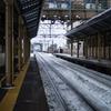 日本の日常 ある冬の駅