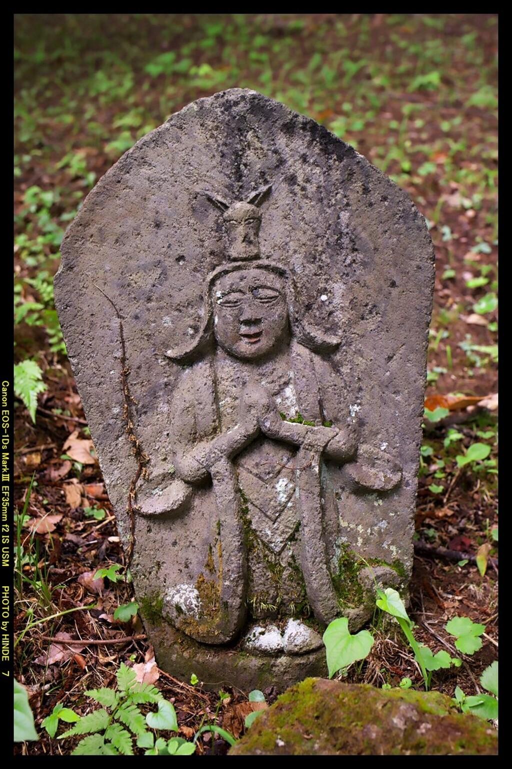 六合村の赤岩で出会った石仏⑤