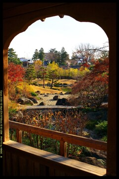 冬の臨江閣日本庭園にて⑧